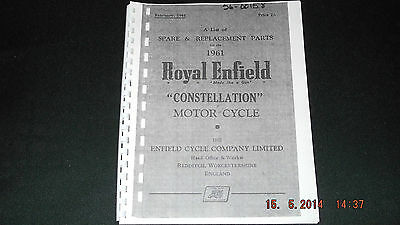 Royal Enfield 1961 Constellation Parts Cat 56-00158 [3-75]