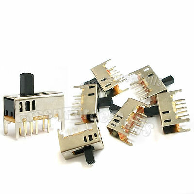 5 pcs 3 Position SPDT Vertical  Slide Switch Small Mini Size ON-OFF 8 Pin PCB