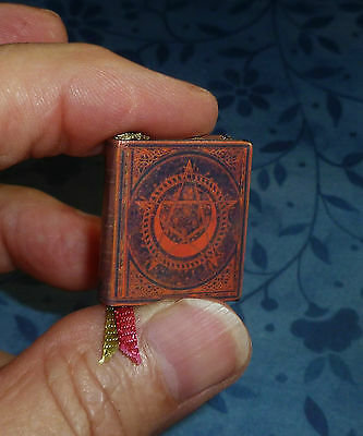 BOOK OF SHADOWS DOLLHOUSE MINIATURE 1:12 SCALE Antique Gold Edges