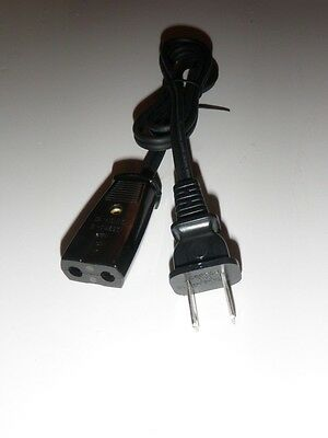 Sears Kenmore Popcorn Corn Popper Power Cord Model 434.6892   (2pin) 29 ""