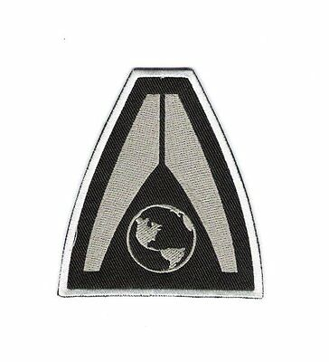 """Mass Effect 3 Earth Systems Alliance Logo Embroidered 3"""" Wide Patch, NEW UNUSED"""