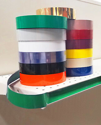 Decorative Gondola Shelving Vinyl Inserts Produce Green 130 ft x 1.25 - 10 pack