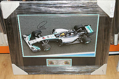 LEWIS HAMILTON HAND SIGNED 12x18 PHOTOGRAPH FRAMED + PHOTO PROOF & C.O.A