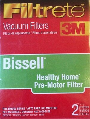 2-Pack 3M FILTRETE BISSELL Healthy Home Pre-Motor Filter - NEW - 66801