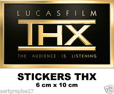 2 adhesif sticker THX  home sound system cinema theater stickers 6 x 10 cm