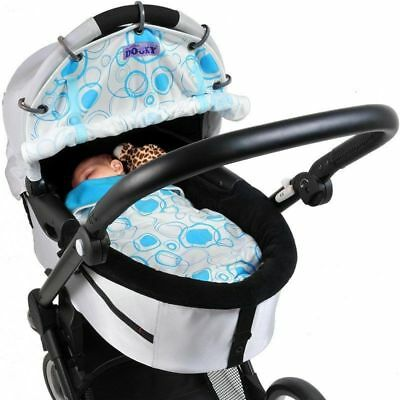 Dooky Design - Universal Fit For Carriers, Strollers, Pushchairs - Blue Circles