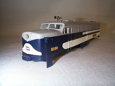 """Lionel American Flyer 48100 """"8100"""" WABASH PA Power A-Unit Shell NOS!"""