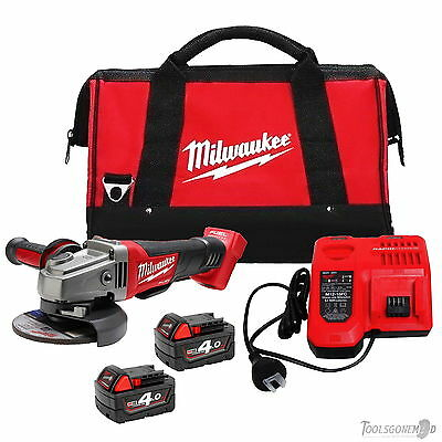 Milwaukee 18V M18Cag125Xpd M18 Fuel Brushless Angle Grinder Kit Aus Stock 4.0Ah