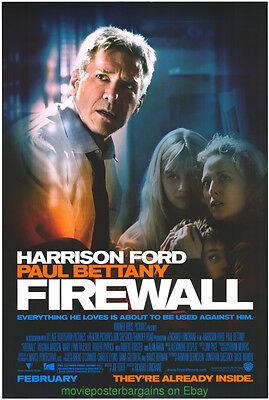 FIREWALL MOVIE POSTER Original DS 27x40 HARRISON FORD 2006