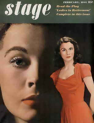 VIVIEN LEIGH * STAGE MAGAZINE * close-up * 11x14 Cover Print * February 1941