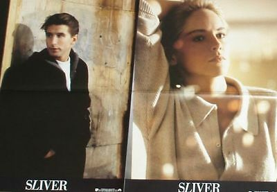 SLIVER - Lobby Cards Set - Sharon Stone, William Baldwin, Tom Berenger