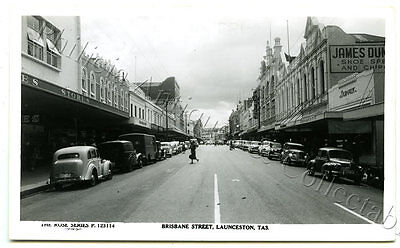 C.1950'S RP NPU ROSE P123114 POSTCARD BRISBANE STREET LAUNCESTON TASMANIA p51.