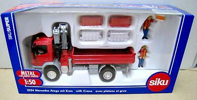 Siku 3534 Scale 1:50 Mercedes Atego with Crane Diecast Metal Construction