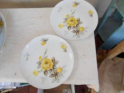 "2 Cotillion by Japan 10 1/4"" Dinner Plate Yellow Rose"