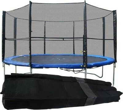 8FT 10FT 12FT 14FT Replacement 6 8 Pole Trampoline Safety Net Enclosure Surround