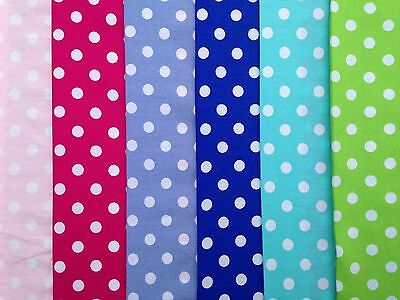 6mm spot/polka dot fabric 100% cotton high quality fine weave various colours