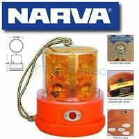 Narva Led Strobe Light Beacon Amber Battery Powered Portable Magnetic New 85320A