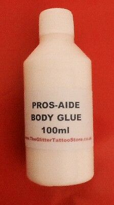 100ml REFILL PROS AIDE BODY GLUE GLITTER TATTOO/GEMS/FESTIVAL FACE/LIPS ADHESIVE