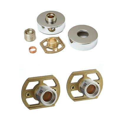 Shower Bar Mixer Valve Easy Wall Fixing Kit Chrome Exp