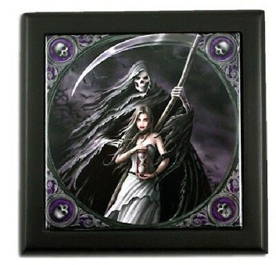 Nemesis Now Anne Stokes NOW0816 Small Tile Box Summon the Reaper 12cm
