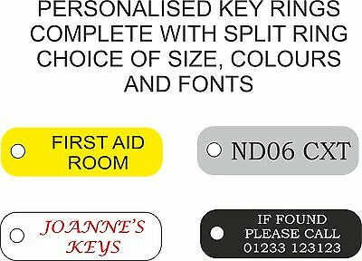 Personalised engraved Key ring 120587 hotel,hospital,office,school,car keys,home