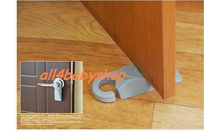 2Pcs Heavy Duty GREY Door Stopper Stoppers Wedge Wedges Jam Block with HOOK