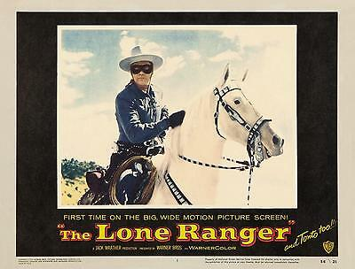 CLAYTON MOORE on SILVER close-up * THE LONE RANGER * 11x14 * LC print * 1956