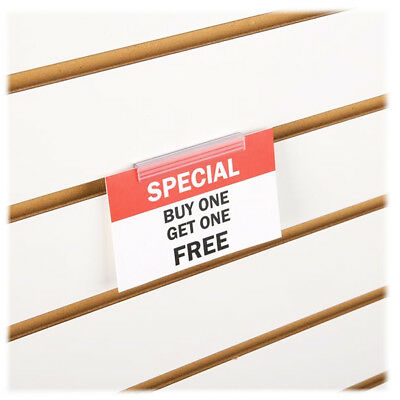 Slatwall Economy Sign Holder - Slatwall PVC Sign Holder - 50 Pieces