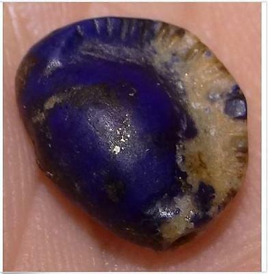 12mm Ancient Rare Lapis Lazuli Shell Bead, 2000+ Years Old, #M84