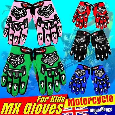 Kids child cycling sports skating glove gloves MX ATV Quad Dirt Trail Pit Bike