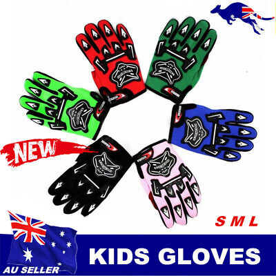 Kids child winter sports cycling Gloves Motorbike ATV Quad Dirt Trail Pit Bike