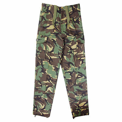 Kids Army Trousers British DPM Camo Soldier Military Fancy Dress Up