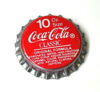 Coca-Cola Coke Classic Kronkorken USA Bottle caps rot Original Formula 10 Oz.