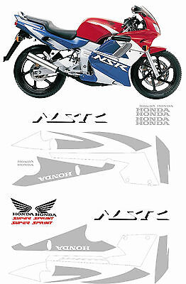Hon NSR 125 2001 to 2002 Replacement decals stickers graphics kit