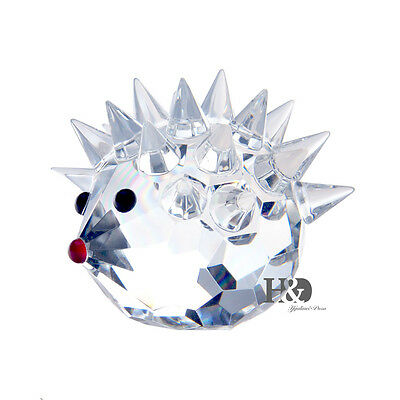 New clear Crystal grass cut lovely animal decoration gifts Hedgehog