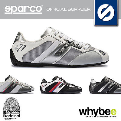 Sparco Racing 'Time 77' Fabric/Leather Paddock Shoes Trainers In 3 Colours!