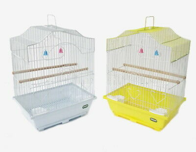 Heritage Cages Corfe Budgie Finch Bird Cage 30x23x39CM Budgies Canary Small Food