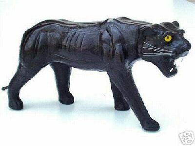 "12"" Leather Panther* (Leatherines) *decorative Piece *free Shipping!!!"