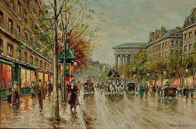 Modern Art home decorate Paris Street oil painting printed on canvas 24x16