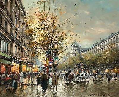 Modern Art home decorate prints oil painting on canvas Paris Street  24x20