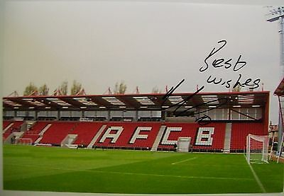 A 12 x 8 inch photo personally signed by Brett Pitman of AFC Bournemouth.