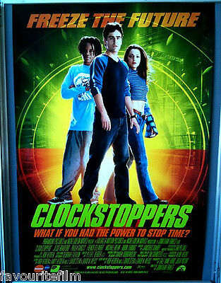 Cinema Poster: CLOCKSTOPPERS 2002 (One Sheet) Jonathan Frakes Jesse Bradford