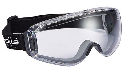 BOLPILOPSI - Bolle Pilot Clear PC Polycarbonate Safety Goggles - Anti Mist Fog