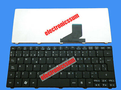 For Acer Aspire one D257 D260 D270 D271 ZH9 HAPPY Keyboard Teclado Spanish Black