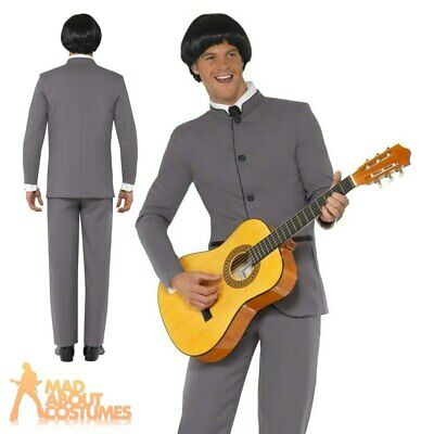 Beatles Costume Adult 60s Fab Four Beatles Mens Fancy Dress Outfit