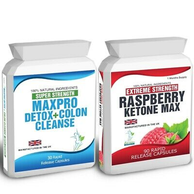 Raspberry Ketones Max 90 Capsules  30 Colon Cleanse Detox Weight Loss Diet Tips
