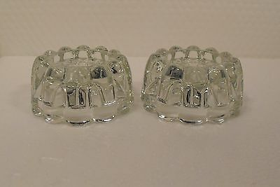 2 Pc Set 1983 Princess House 3-Way 24% Lead Crystal  Clear Candle Holders