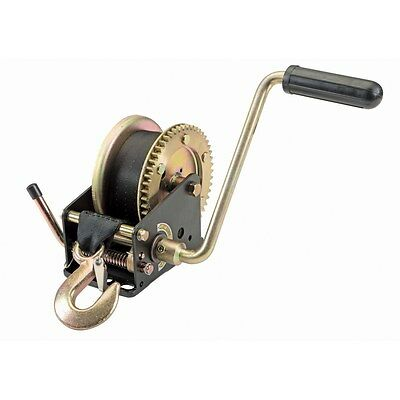 1200 lb Capacity Portable or Easy to Mount Hand Winch Home Farm Inline Pulling!