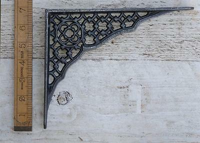 2 Cast Iron Wall Brackets Shelf Cistern Jali Lattice  Screws Vintage Shabby Chic