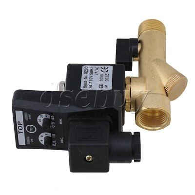 """1/2"""" Multifunction Automatic Electronic Timed Air Compressed Drain Valve AC110V"""